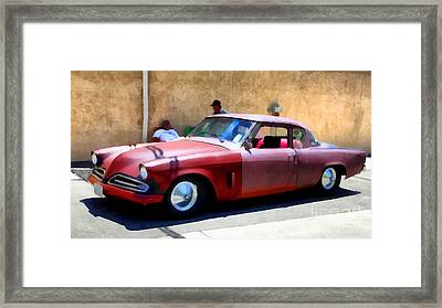 Hanging With My Buddy . 1953 Studebaker .  5d16513 Framed Print by Wingsdomain Art and Photography