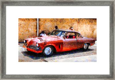 Hanging With My Buddy . 1953 Studebaker . Painterly . 5d16513 Framed Print by Wingsdomain Art and Photography