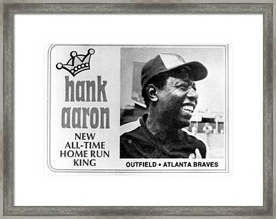Hank Aaron, After Record Breaking 715th Framed Print