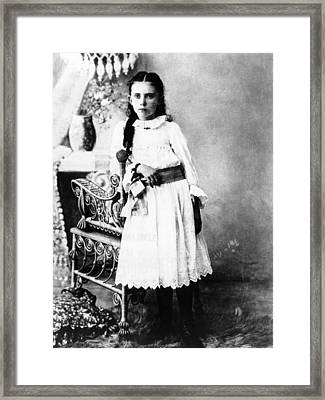 Hannah Milhaus At The Age Of 10. The Framed Print by Everett