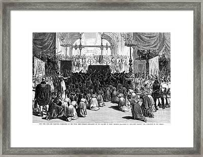 Hannukah Celebration, 1880 Framed Print by Granger