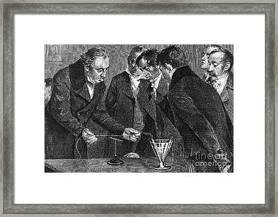 Hans Christian �rsted, Danish Physicist Framed Print by Science Source