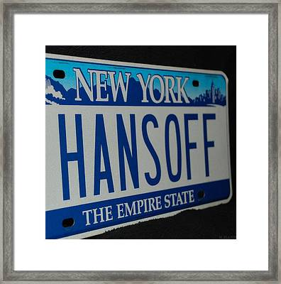 Hans Off Framed Print by Rob Hans