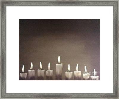 Hanukkah Framed Print by Annemeet Hasidi- van der Leij