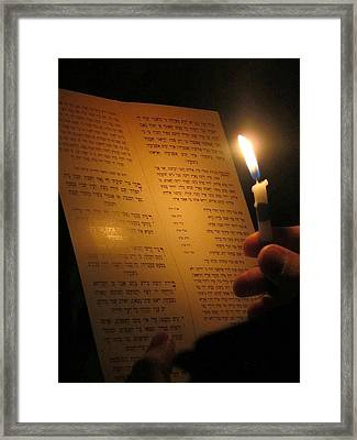 Hanukkah By Candlelight Framed Print by Tia Anderson-Esguerra