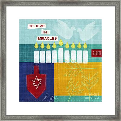 Hanukkah Miracles Framed Print by Linda Woods