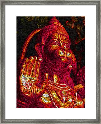 Hanuman The Monkey King Framed Print