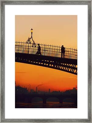 Hapenny Bridge, Dublin, Co Dublin Framed Print by The Irish Image Collection