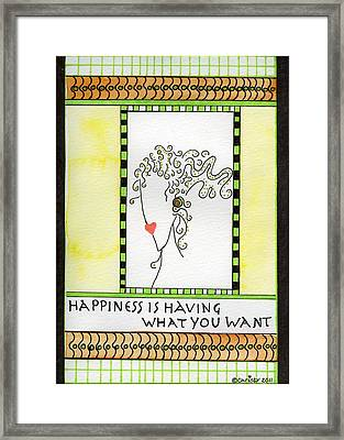 Happiness Framed Print by Christy Woodland
