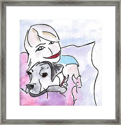 Happiness Framed Print by Elizabeth Briggs