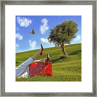 Happiness Of Summer Framed Print by Joana Kruse
