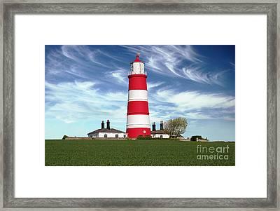Happisburgh Lighthouse - Norfolk Framed Print by Rod Jones