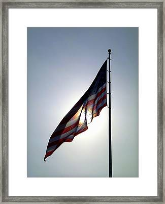Happy 4th Of July Framed Print by Cindy Wright