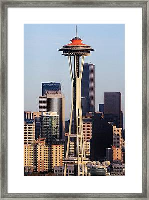 Happy 50th Space Needle Framed Print by Benjamin Yeager