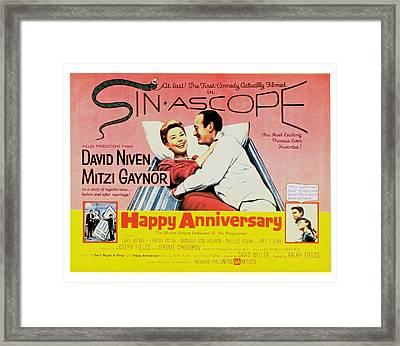 Happy Anniversary, Mitzi Gaynor, David Framed Print by Everett