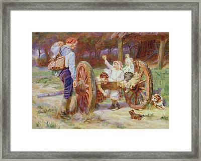 Happy As The Days Are Long Framed Print by Frederick Morgan