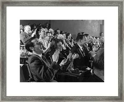 Happy Audience Framed Print by Bert Hardy