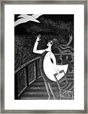 Happy Bird Day Framed Print by Donovan OMalley