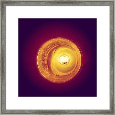 Happy Birthday #candle Framed Print