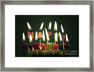 Happy Birthday Framed Print by Catherine MacBride