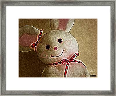 Happy Bunny Framed Print by Methune Hively