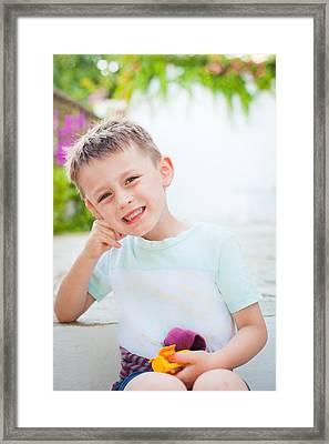 Happy Child Framed Print