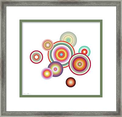 Happy Circles Framed Print by Nomi Elboim