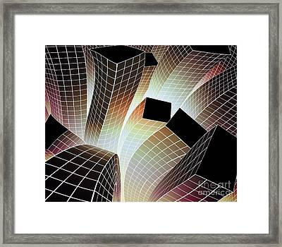 Happy City Framed Print
