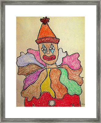 Happy Clown Framed Print by Robyn Louisell
