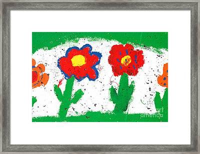 Happy Colorful Flowers Framed Print by Gaspar Avila