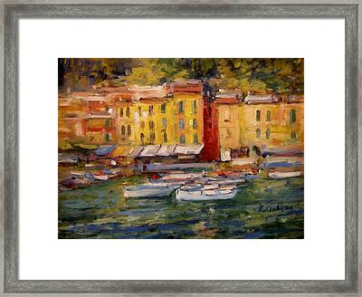Happy Day In Italy Framed Print by R W Goetting