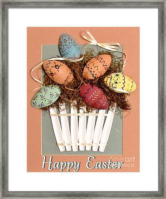 Happy Easter Framed Print by Marilyn Smith