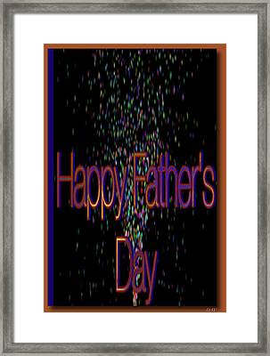 Happy Fathers Day Card Framed Print