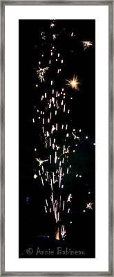 happy Fourth of July Framed Print by Anne Babineau