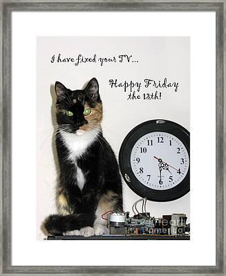 Framed Print featuring the photograph Happy Friday The 13th by Ausra Huntington nee Paulauskaite