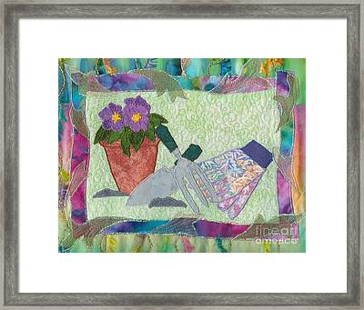 Happy Gardening Framed Print