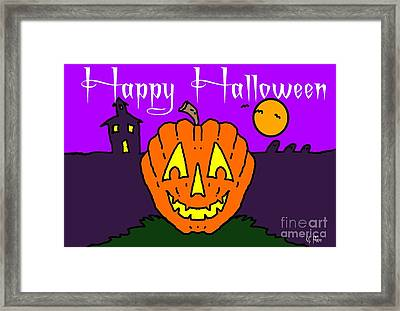 Happy Halloween 2 Framed Print by George Pedro