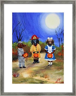 Happy Halloweenies Fireman Alice Prisoner Framed Print by Stella Violano