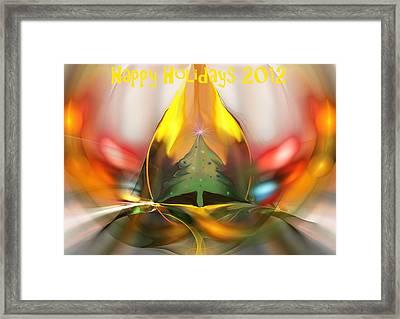 Happy Holidays 2012 Framed Print by David Lane