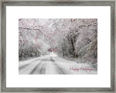 Happy Holidays - Clarks Valley Framed Print by Lori Deiter