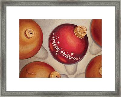 Framed Print featuring the painting Happy Holidays by Joe Winkler