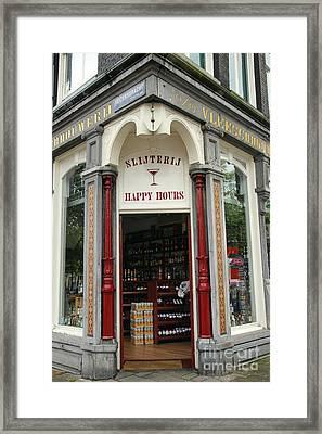 Happy Hours Liquor Store Framed Print by Sophie Vigneault