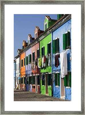 Framed Print featuring the photograph Happy Houses by Raffaella Lunelli