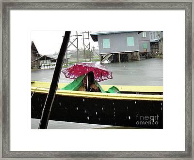Happy In The Rain Framed Print by Nika One