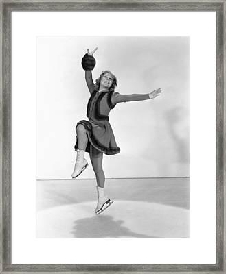 Happy Landing, Sonja Henie, 1938 Framed Print