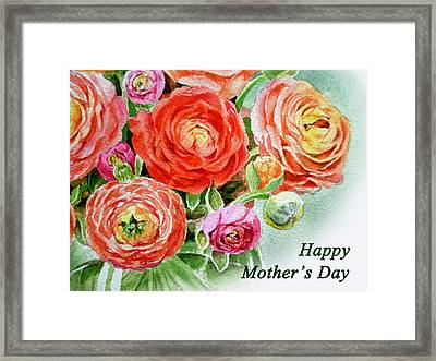 Happy Mothers Day Card Framed Print