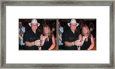 Happy New Year - Gently Cross Your Eyes And Focus On The Middle Image That Appears Framed Print by Brian Wallace