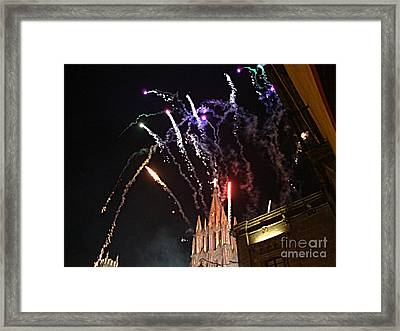 Framed Print featuring the photograph Happy New Year by John  Kolenberg