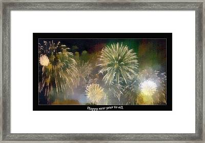 Happy New Year To All Framed Print by Odon Czintos