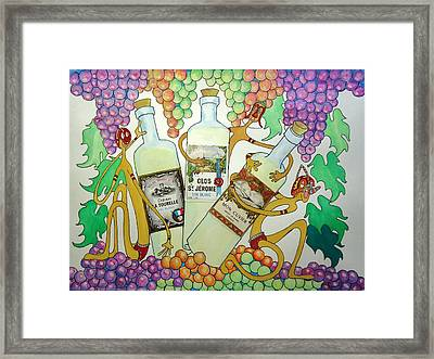 Happy People With Wine Framed Print by Glenn Calloway